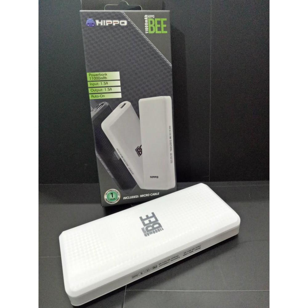 Hippo Power Bank Bronz X 12500 Mah Simple Pack Shopee Indonesia 7500 Putih