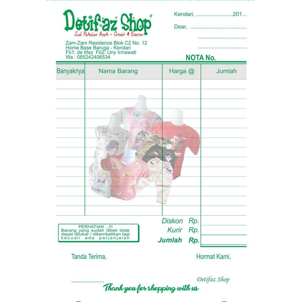 Nota Olshop Custom 2ply Hvs4 Paket Murah