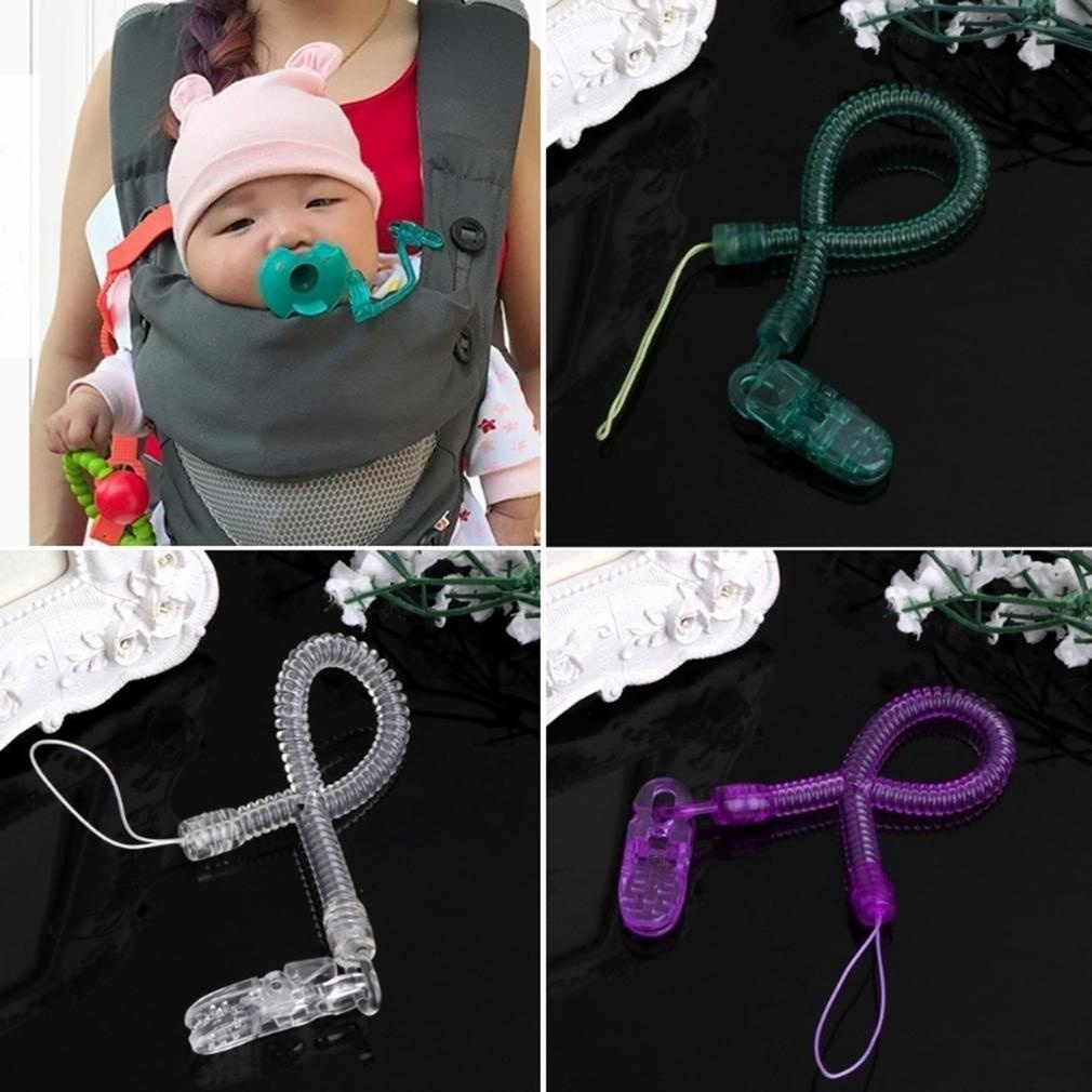 Girls For Kids Clip Holder Dummy Pacifier Soother Strap Chain Nipple Leash