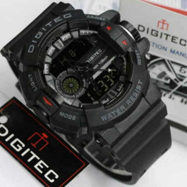 Grosir Jam tangan Pria Digitec DG-2044T Hitam Full black Jam tangan Digitec  DG-2044T Original  dcebe65f00