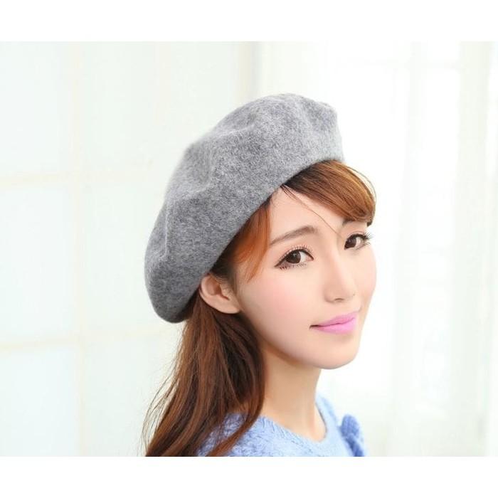 topi beret wol abu british painter hat grey korean version jto037 ... e3bf9ea926