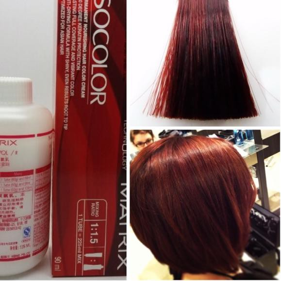 Rgep X2085 Matrix Socolor 5 6 5r Light Red Brown Hair Dye Cat Rambut Merah Maroon So Color Ariana Gr Shopee Indonesia