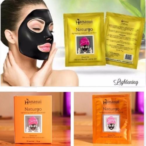 Hanasui Naturgo Masker Lumpur Pengangkat Komedo BPOM - 30 Pcs | Shopee Indonesia