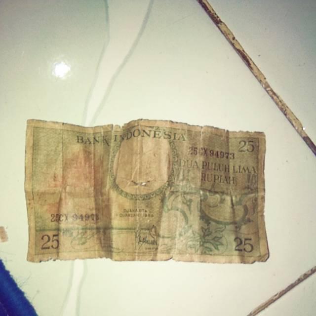 Uang indonesia 25 rupiah tahun 1959
