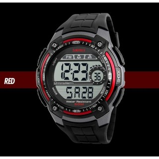 Jam Tangan Pria Digital Skmei 1203 Red Water Resistant 30m