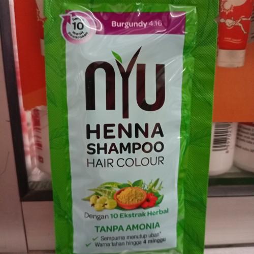 NYU   HENNA SHAMPOO HAIR COLOUR (CAT RAMBUT) 20ML-BURGUNDY