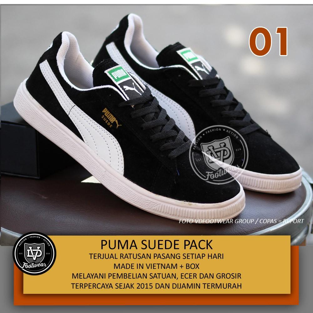 SEPATU PUMA SUEDE PACK SNEAKERS PRIA SKATE NAVY WHITE  400c46ea89