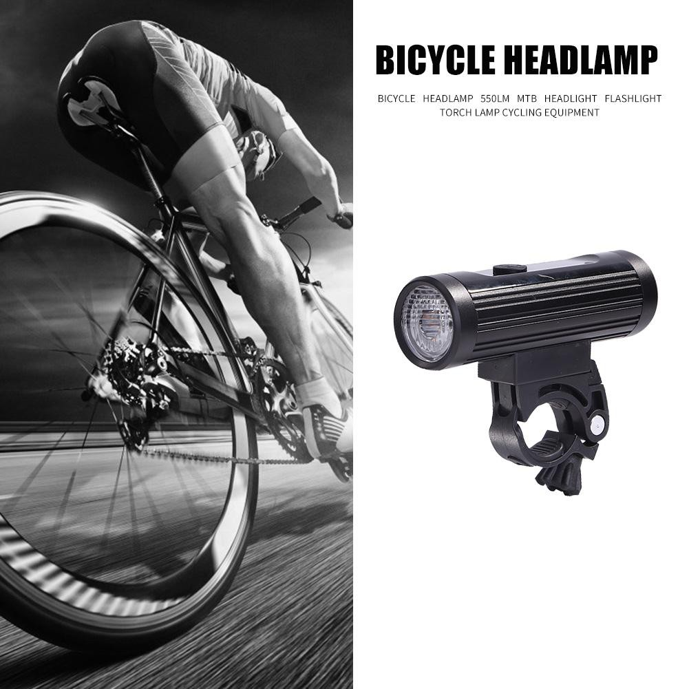 USB Rechargeable LED MTB Bike Bicycle Cycle Head Front Light Lamp EN