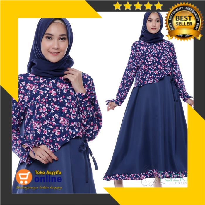 Toko Asyyifa Online Dress Muslim Wanita Jihan Maxi Dress Original Shopee Indonesia