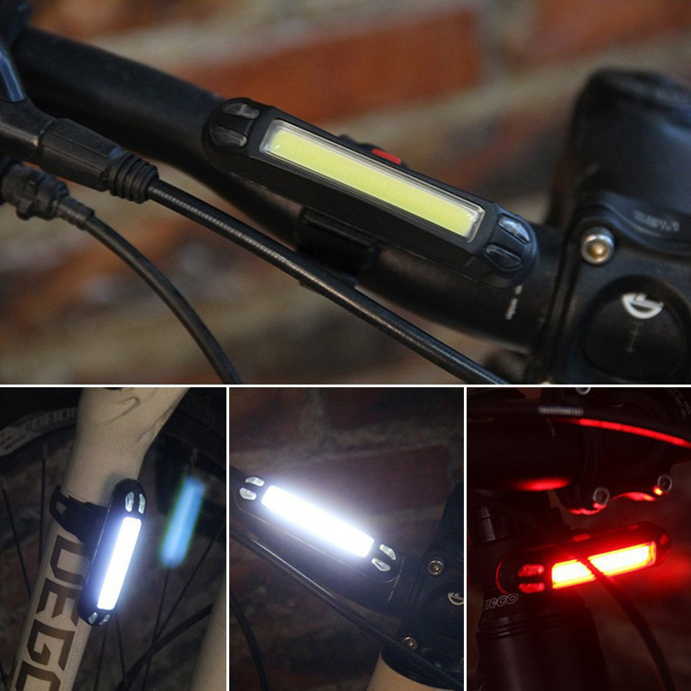 Usb Rechargeable Led Bicycle Cycling Mtb Bike Rear Tail Light Lamp Taillight Uk | Shopee Indonesia