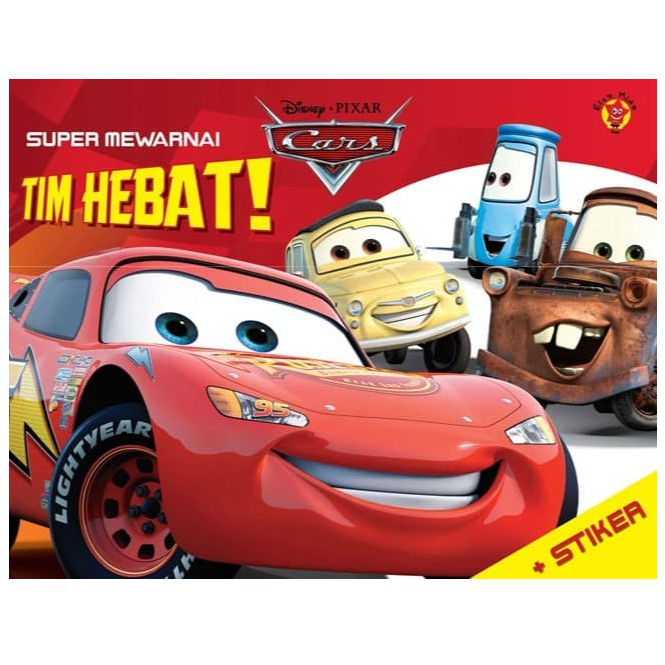 Super Mewarnai Cars Stiker Tim Hebat