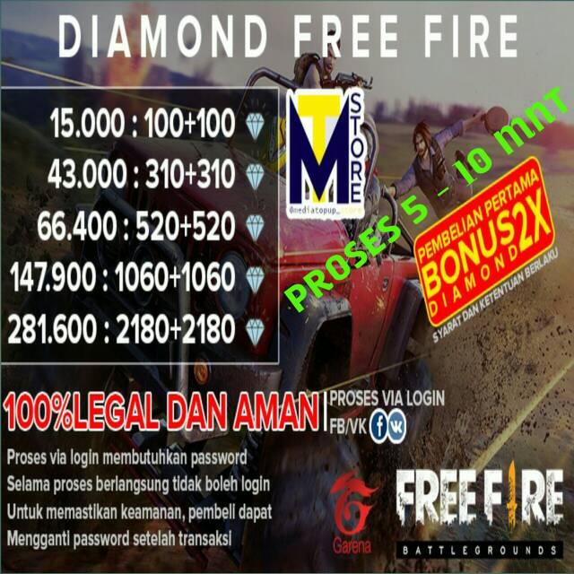 TOPUP DIAMOND GARENA FREE FIRE AMAN