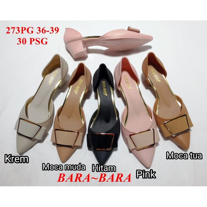 Jelly shoes sepatu wanita bara bara wedges karet import 15858 | Shopee Indonesia