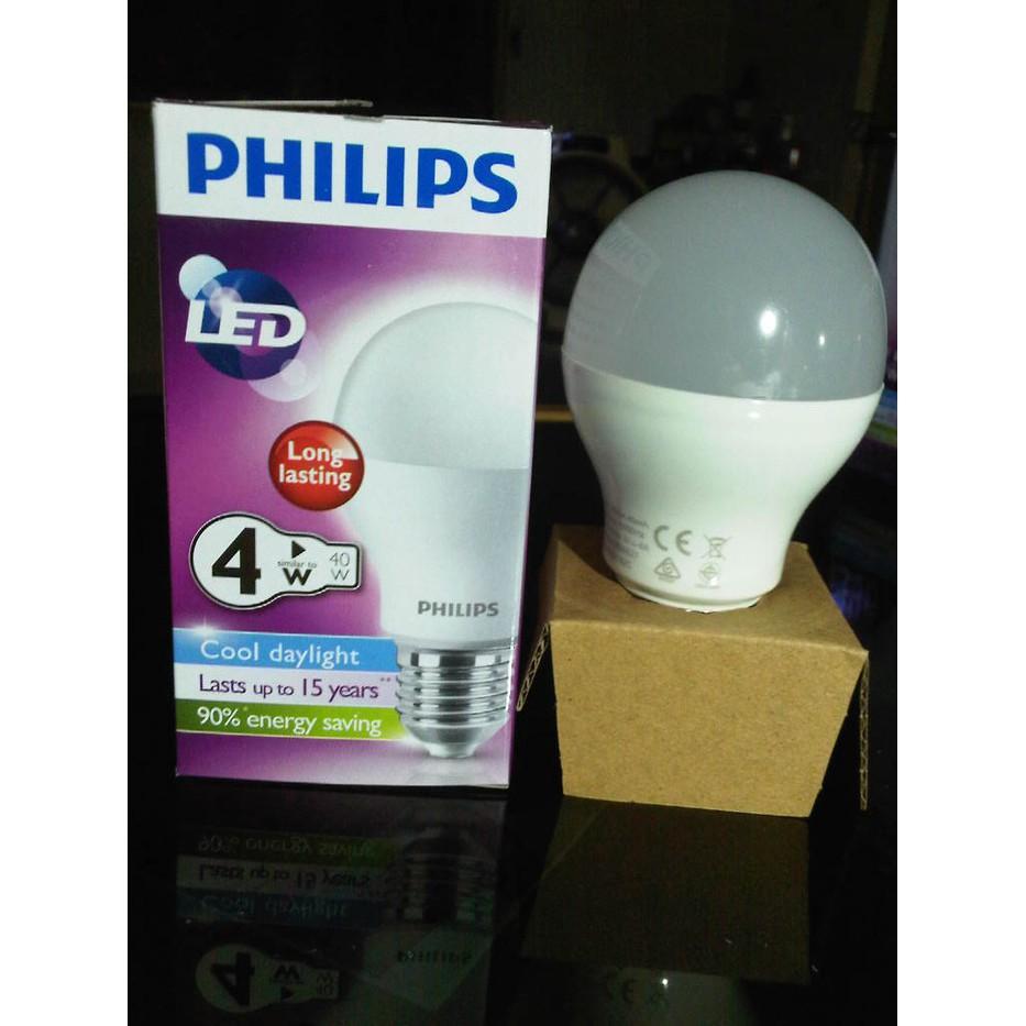 Lampu Led Philips 10w Paket 4 Bohlam Shopee Indonesia Bulb W 4w Watt 4watt Kelipatan 12 Pcs