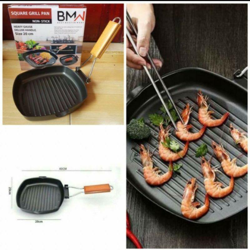 square grill BMW / pan Panggang/ panggaan BBQ / BMW 20CM
