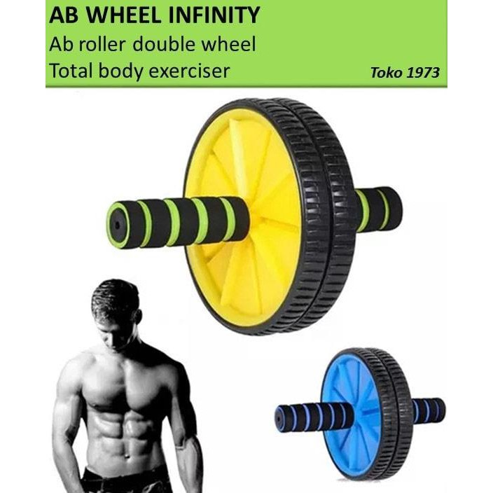 Power Wheel ABS / Alat Fitness Praktis Bentuk Otot Perut Lengan Paha | Shopee Indonesia