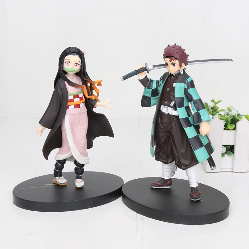 Demon Slayer Kimetsu No Yaiba Kamado Tanjirou Nezuko PVC Action ...