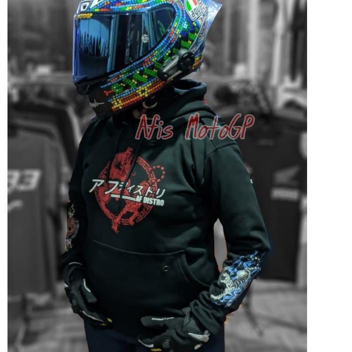 *Promo hoodie sunmori japanese limited edition ride with style hoodie kohaku naga tiger agv pista .,