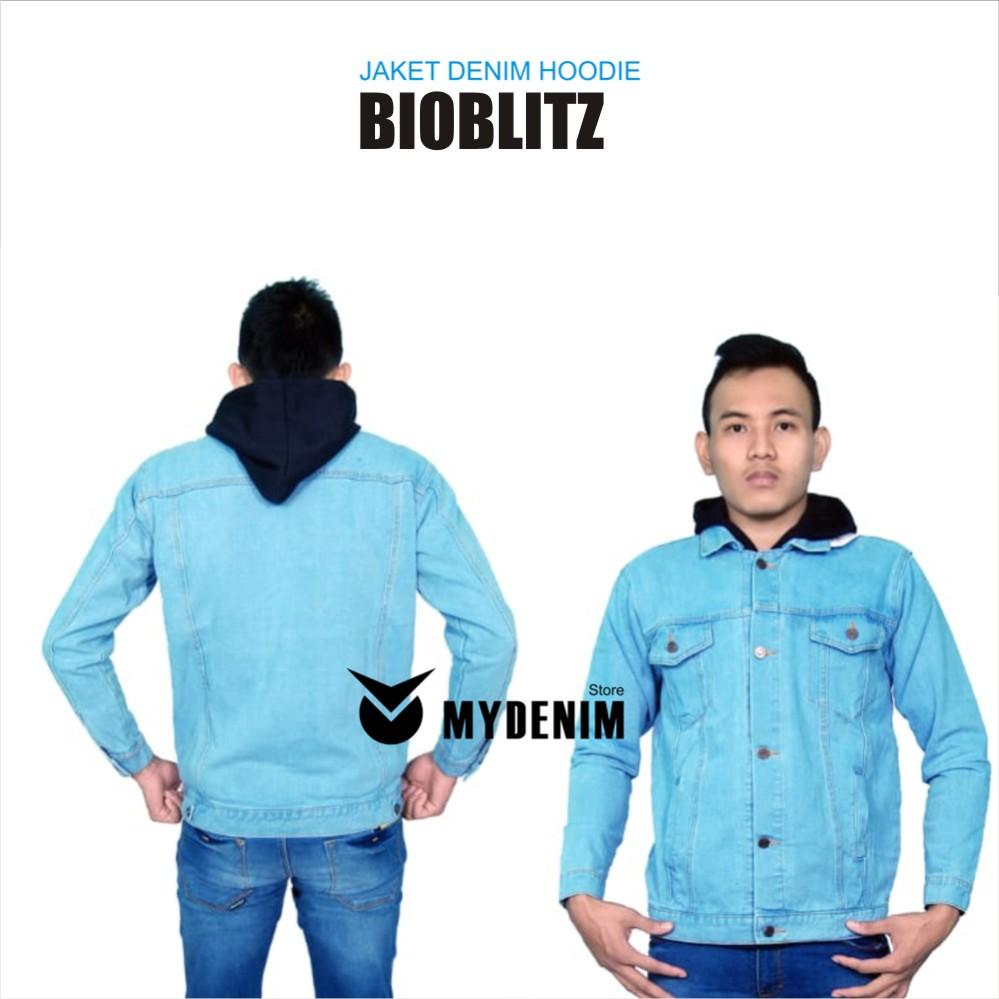 Jaket Denim Jeans Hoodie Shopee Indonesia Jean Pria Biru Tua Jak 2044