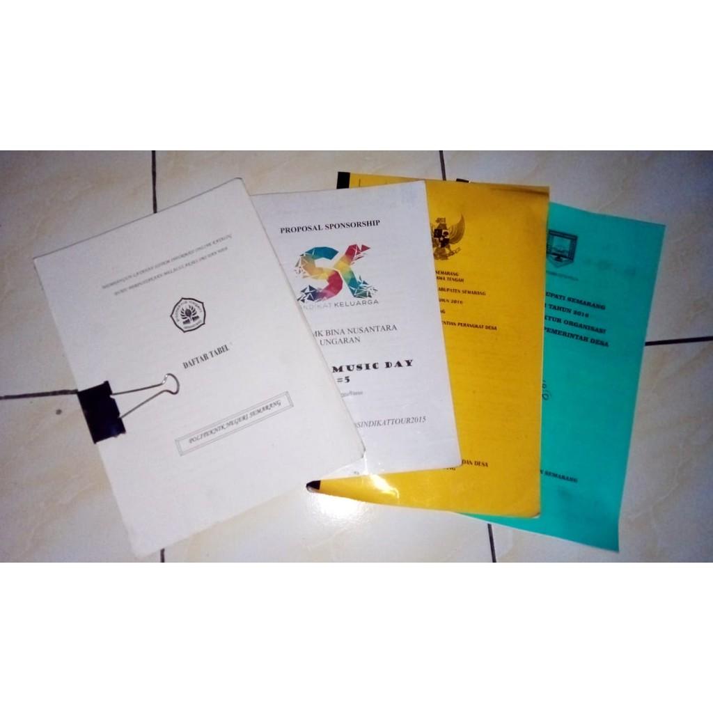 Print Cetak Kertas A4 70gsm Dokument Makalah Skripsi Proposal Dll Shopee Indonesia