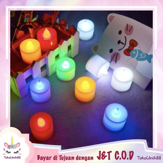 TU88 Lampu Bentuk Lilin Mini LED Lilin Elektrik Candle Light LED Lamp Mini Lampu Dekorasi - LML