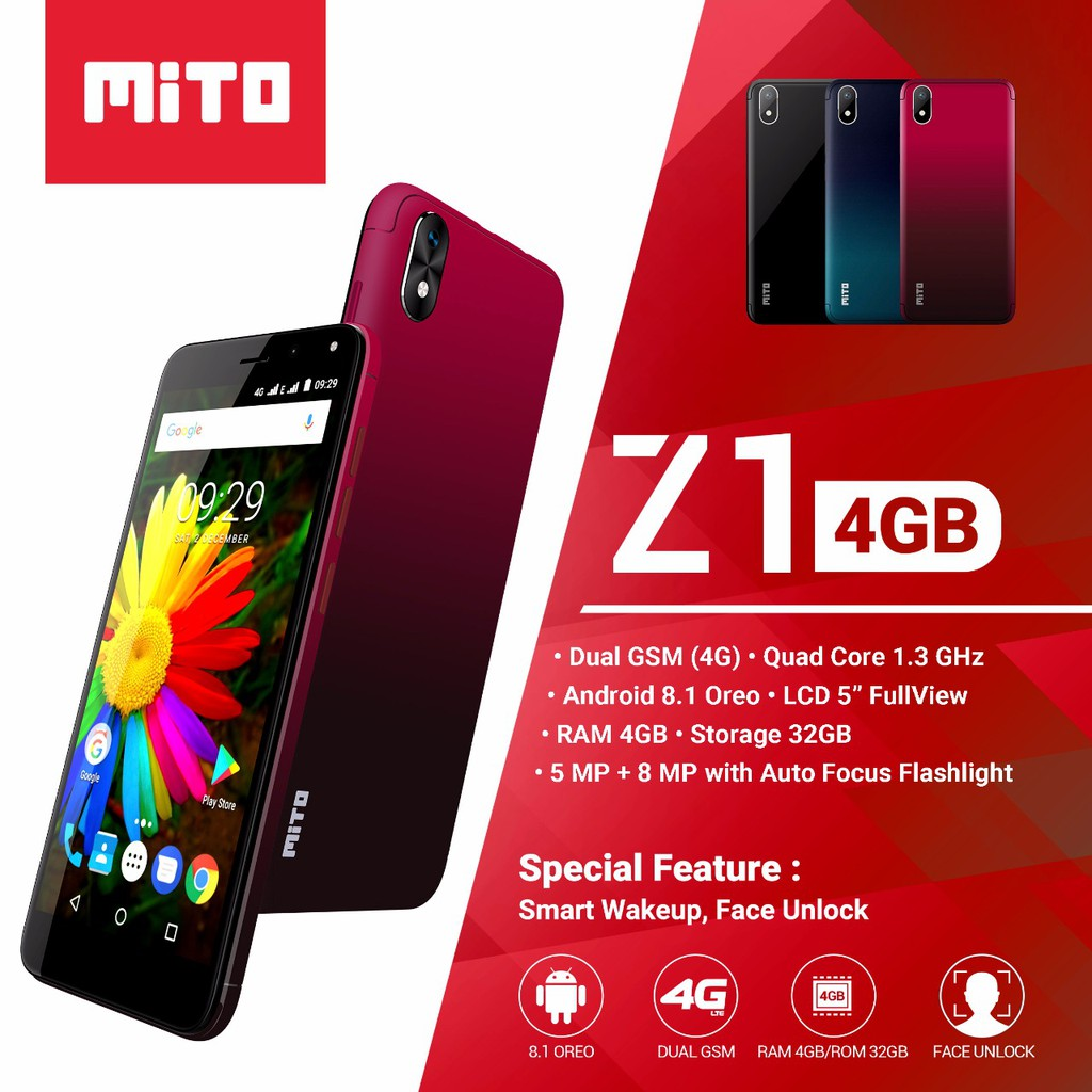 MITO Z1 4GB - Android 4G 5