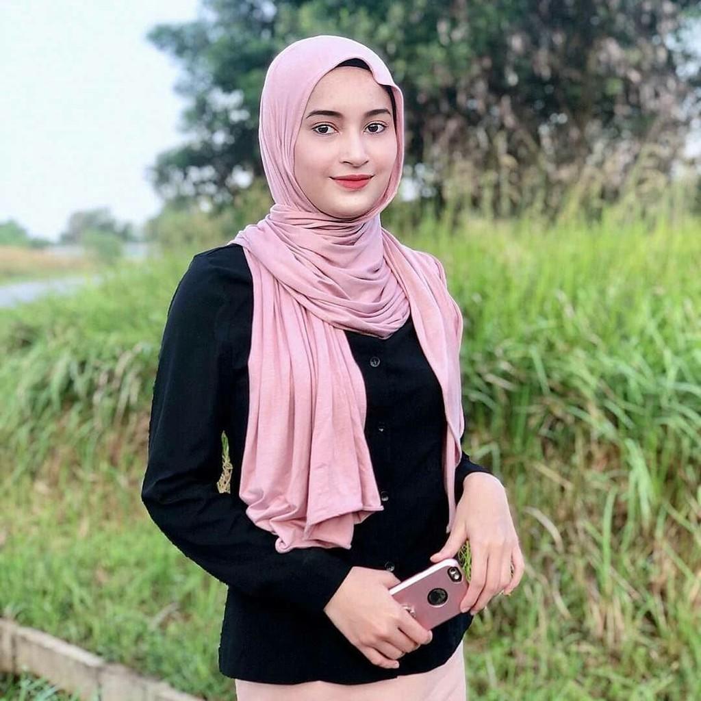 Pashmina Kaos / Pashmina Kaos Polos / Jersey Shawl / Pashmina Kaos Premium  / Pashmina Jersey | Shopee Indonesia