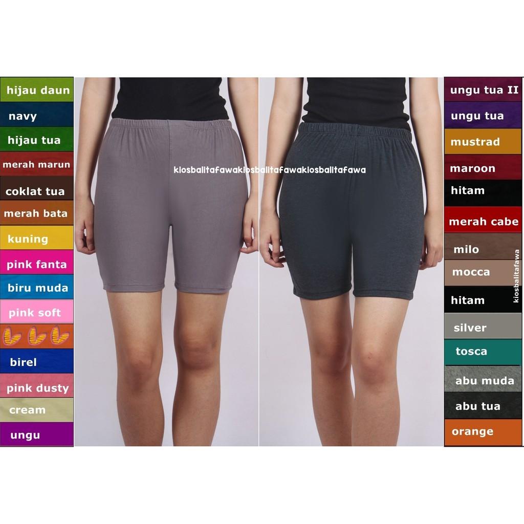 Celana Short Dewasa / Celana Ketat Dalaman Rok Bahan Pendek Short Pants Polos Legging Kaos Baju