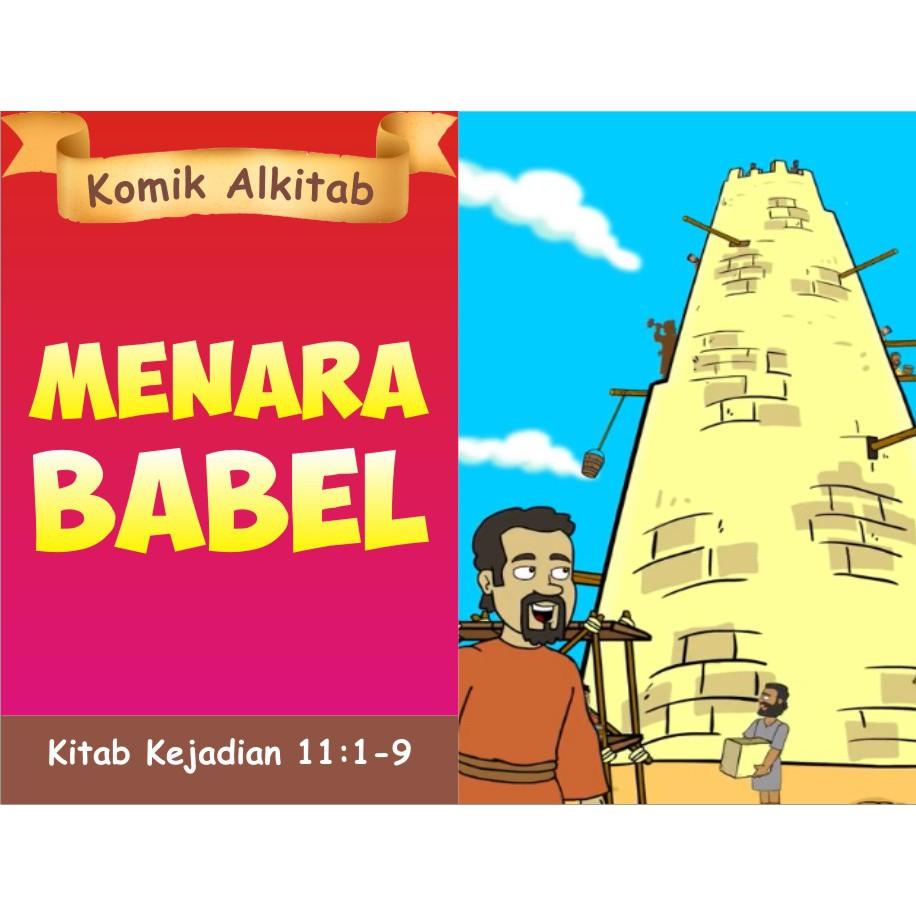 Menara Babel Seri Buku Komik Cerita Alkitab Anak Kristen Sekolah Minggu Gereja Tuhan Yesus Shopee Indonesia