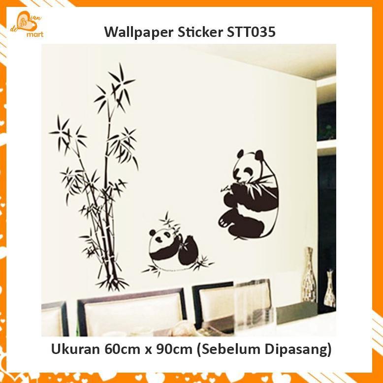 Kode Q64 Wallpaper Sticker Dinding Rumah Karakter Panda Hitam Putih Stt035 Shopee Indonesia