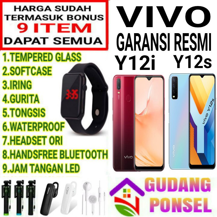 VIVO Y12S 3/32 RAM 3GB ROM 32GB GARANSI RESMI VIVO ...