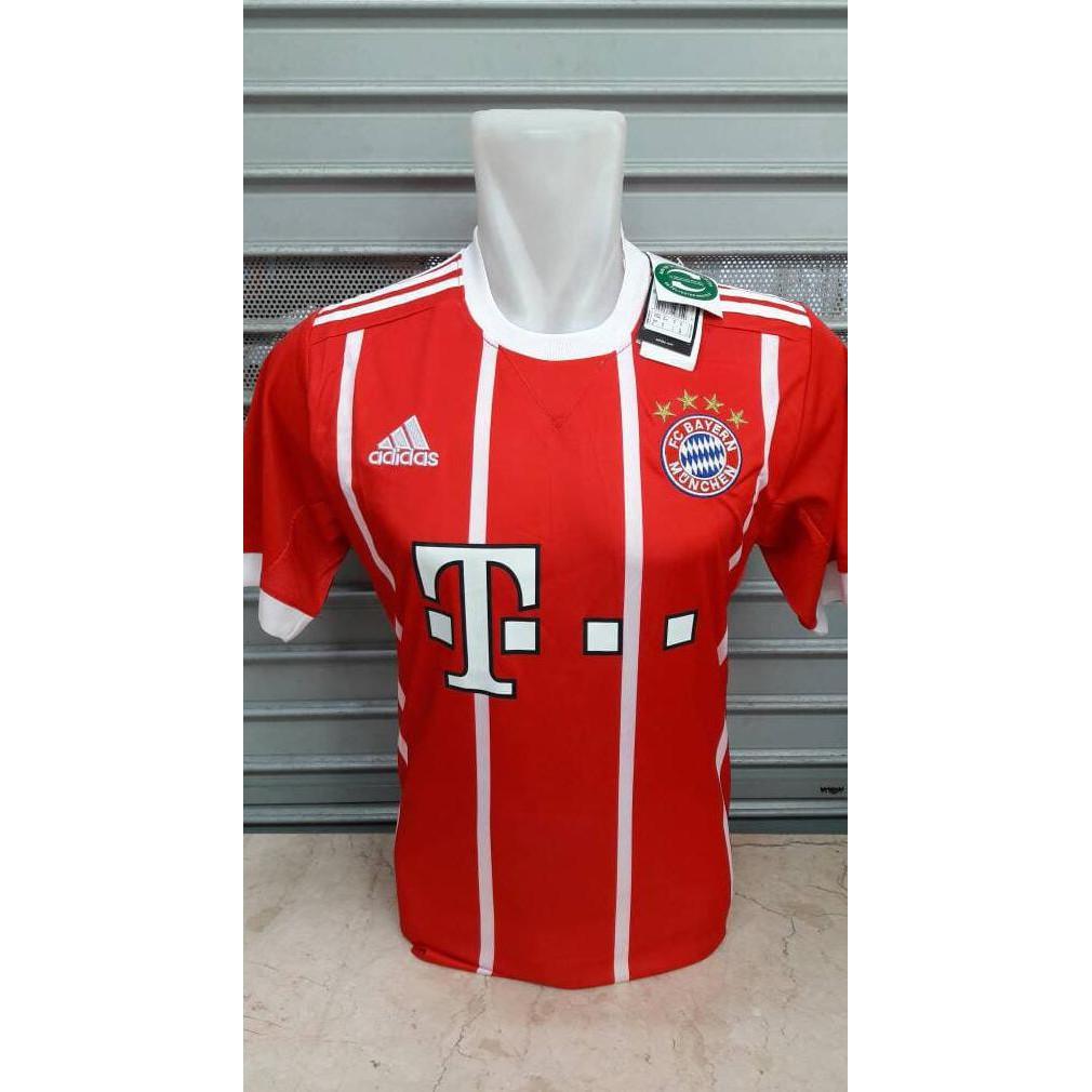 {New Product} Jersey Baju Bola Bayern Munchen Home New 17/18 Grade Ori