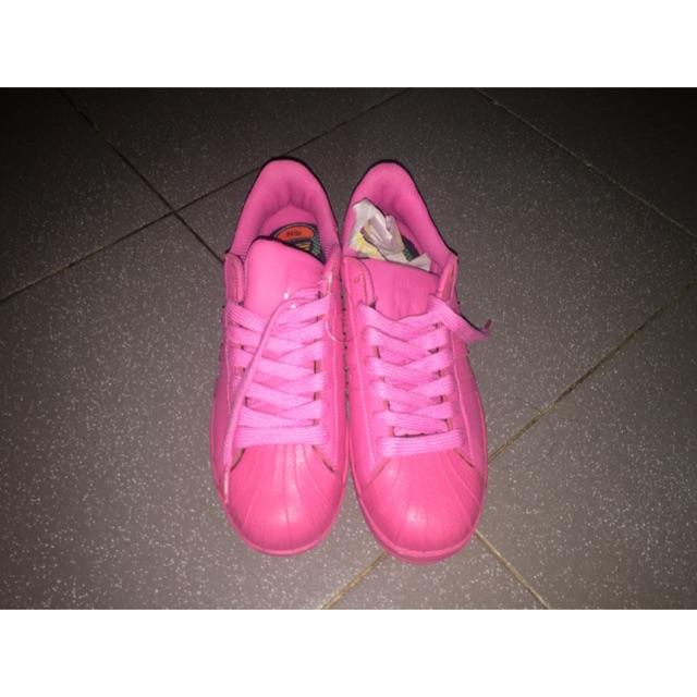 Carretilla Incorporar Cordero  adidas superstars color shock pink | Shopee Indonesia