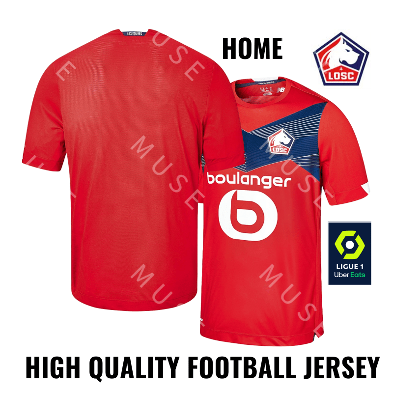 Lille 2020 Football Jersey Lille Home Jersey 2021 Lille Soccer Jerseys Shopee Indonesia