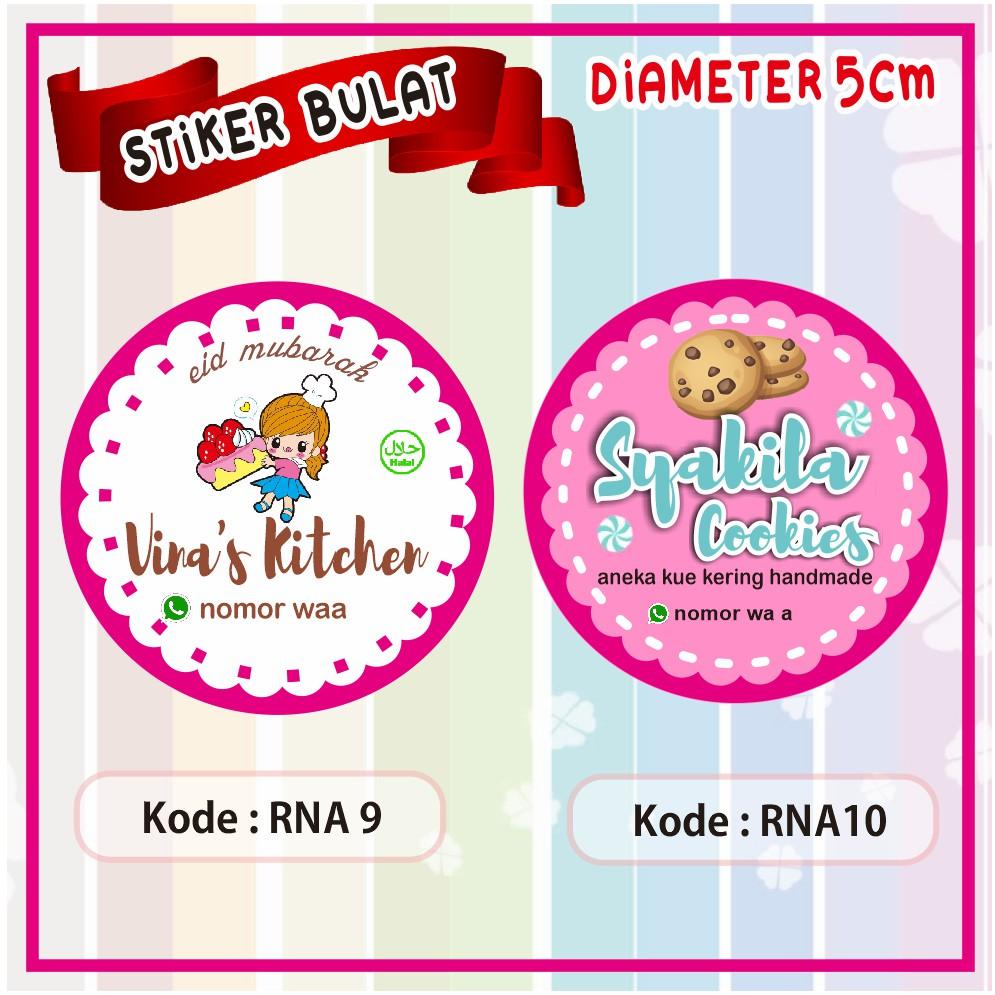 Label Stiker Bulat Diameter 5 Cm Untuk Kue Cake Cokies Snack Dll Dipasang Di Toples Shopee Indonesia