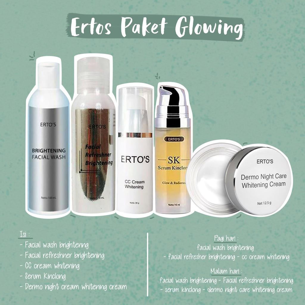Paket Pemutih Dan Glowing Wajah Faceglow Whitening Glow Skin Ertos 1 Shopee Indonesia