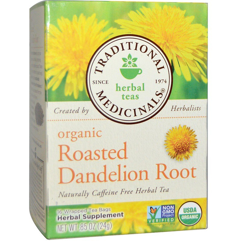 Traditional Medicinals, Organic Roasted Dandelion Root, 16 Wrapped Tea Bags