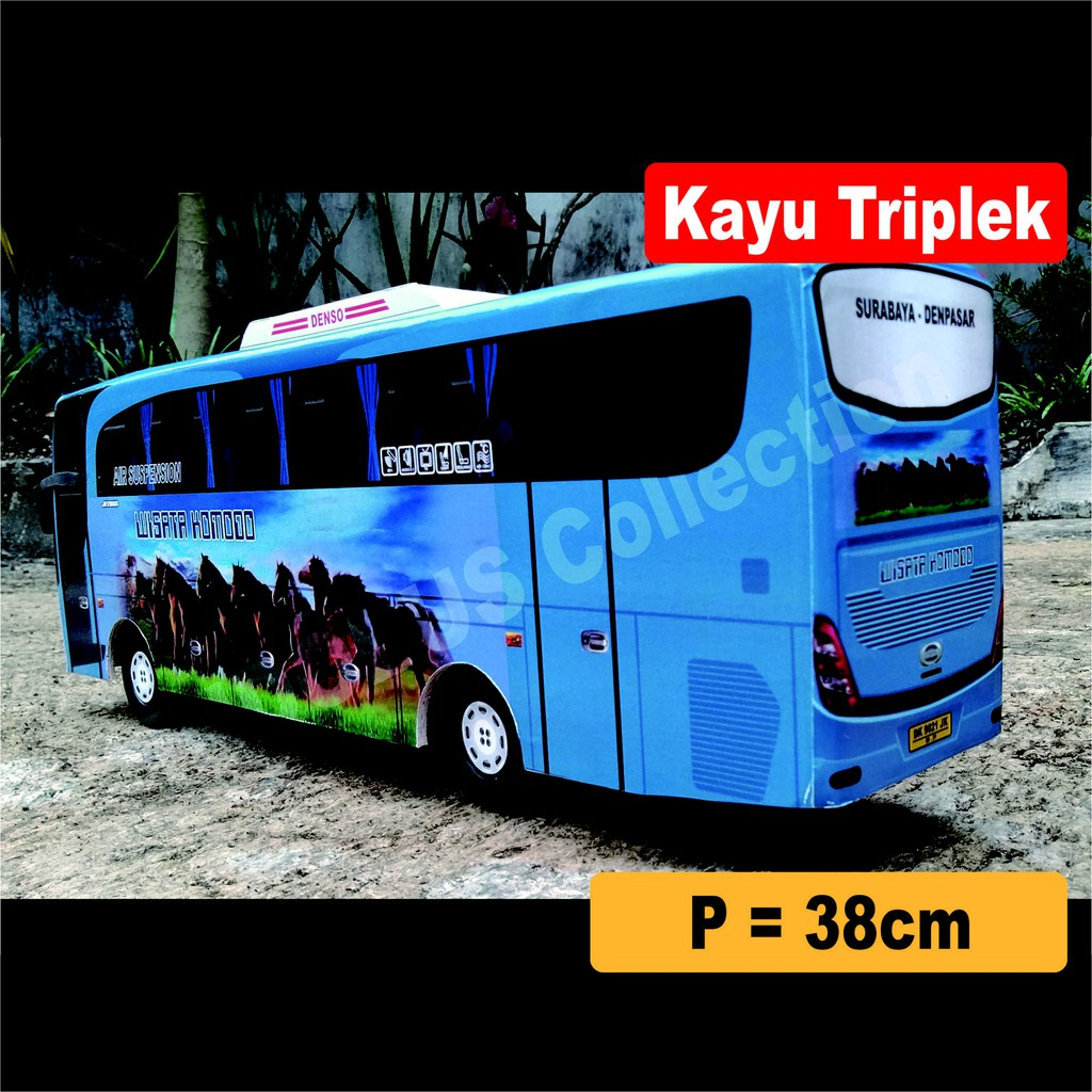 INDOBUS Miniatur Bus Bis Wisata Komodo