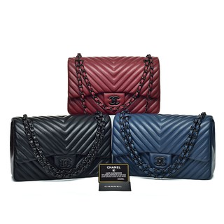 377493c6e006 TAS BRANDED IMPORT MURAH- Tas Chanel Classic So Black Chevron Lambskin Semi  Premium AP9605-77