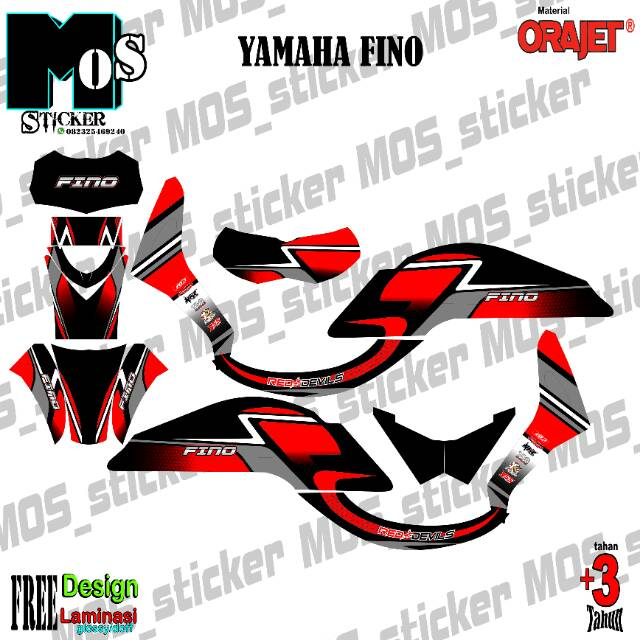 Decal Stiker Desain Bebas Yamaha Fino Full Body Shopee Indonesia