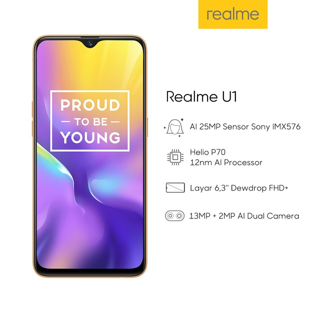 Realme U1 - AI 25MP, SelfiePro (COD Available)