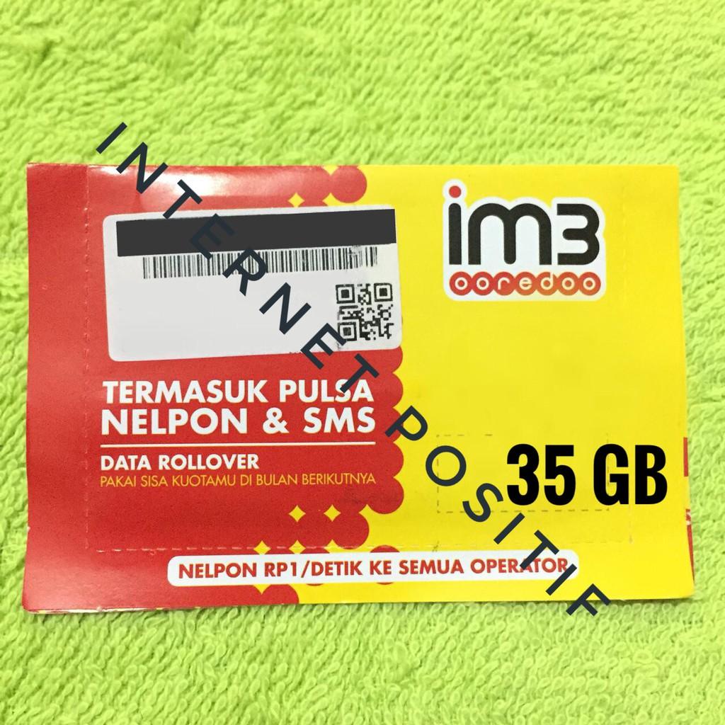 Kartu Perdana Indosat Im3 35gb 20gb 10gb 5gb Shopee Indonesia Kuota 15 20 Gb 4g 24 Jam