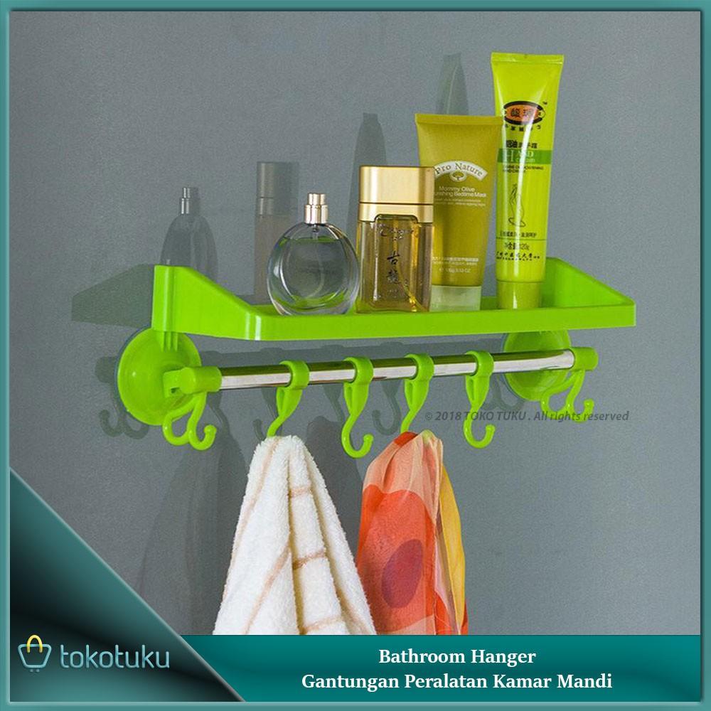Gantungan Peralatan Kamar Mandi Rak Handuk Baju Sabun Shamphoo Toilet Shampoo Odol Serbaguna Hanger Bathroom Shopee Indonesia