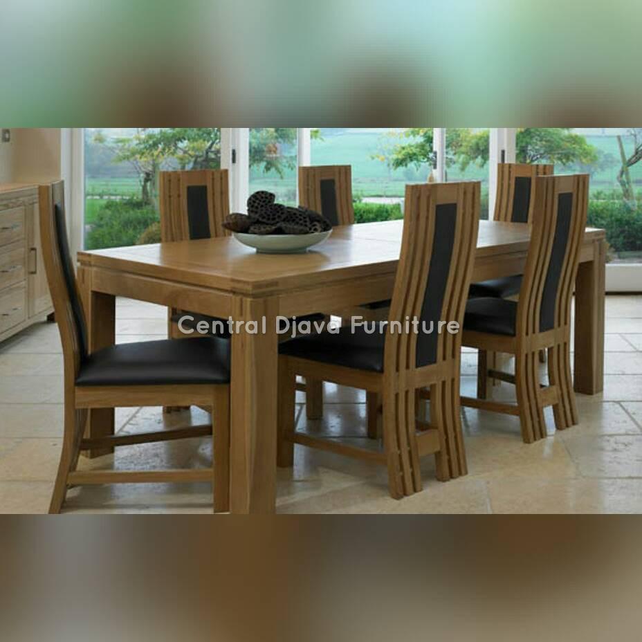 Kursi Meja Makan Minimalis Modern Kayu Jati Kursi 6 Furniture Jepara Shopee Indonesia