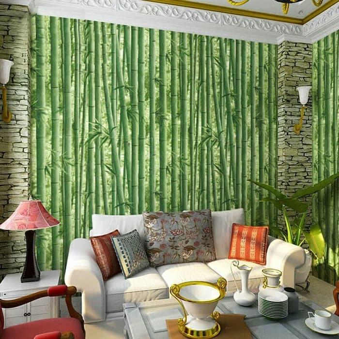 walpaper dinding minimalis motif pohon bambu size 45x10 | Shopee Indonesia