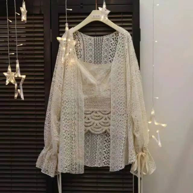 Lace Outer - by Aghnia Style