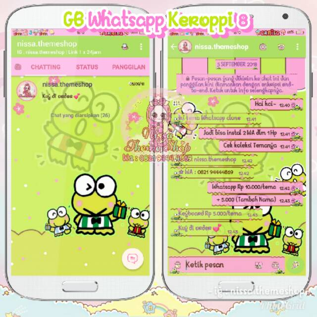 Gambar Keroppi Untuk Wallpaper Wa Tema Whatsapp Wa Keroppi Shopee Indonesia