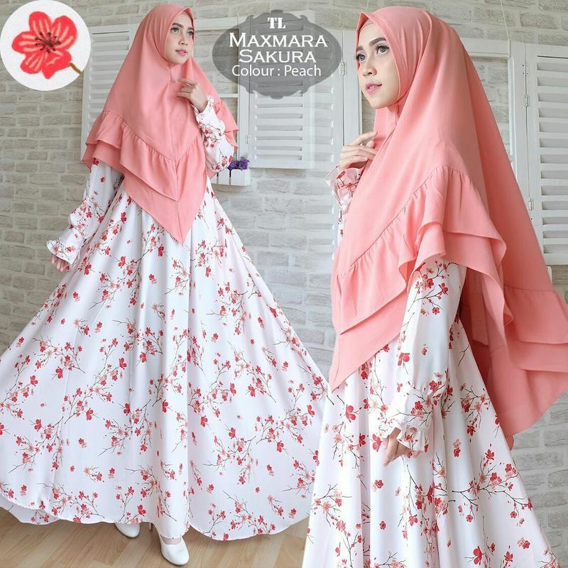 Model Baju Muslim Gamis Terbaru Dan Modern Tk Syar 39 I Maxmara Sakura Shopee Indonesia