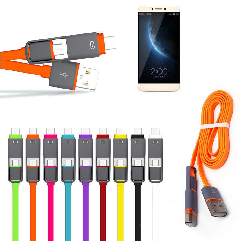[HOT DEALS] Kabel Data / Charger 2 in 1 Tipe C & Micro USB ke USB C Untuk Android Samsung Huawei