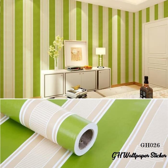 Wallpaper Dinding Salur Hijau Wallpaper Dinding Motif Salur Shopee Indonesia